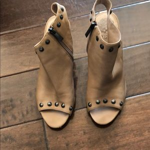 Open toe booties/sandal.  Very soft leather
